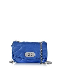 Zadig And Voltaire Cobalt Blue Quilted Leather Skinny Love Clutch