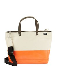 Jack Spade Dipped Industrial Colorblocked Tote Bag0500043477488 Natural Orange