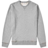 Valentino Rockstud Untitled Cuff Crew Sweat Grey