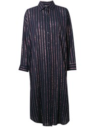 Mes Demoiselles Striped Shirt Dress Blue