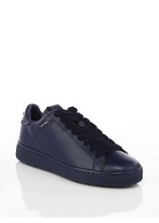 Coach Leather Low Top Sneakers White Navy Oceania