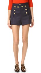 Red Valentino Sailor Shorts Blue