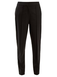 Proenza Schouler Tapered Leg Wool Blend Trousers Black