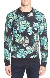 Men's French Connection 'Jungle Punch' Frond Print Crewneck Sweatshirt