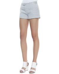 Joseph Delaunay Optic Print Shorts White Black
