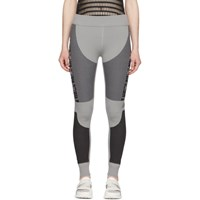 Adidas By Stella Mccartney Grey Primeknit Run Leggings