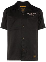 Neighborhood Souvenir Skull Motif Shirt Black