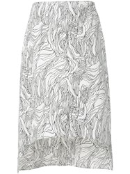 Marni Asymmetric Midi Skirt White