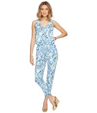 Lilly Pulitzer Paulina Jumpsuit Indigo Sunset Swim Women's Jumpsuit And Rompers One Piece Blue