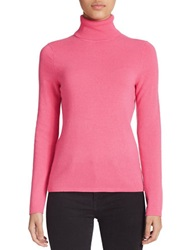 Lord And Taylor Cashmere Turtleneck Sweater Paramour Pink