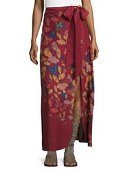 Free People Floral Maxi Skirt Red
