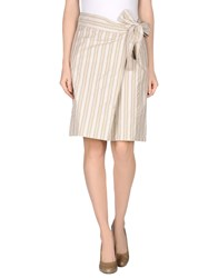 Fabrizio Lenzi Skirts Knee Length Skirts Women Light Grey