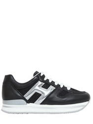 Hogan 50Mm H222 Leather And Glitter Sneakers