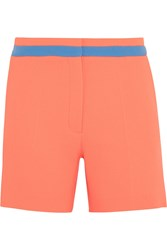 Roksanda Ilincic Neon Wool Crepe Shorts Orange