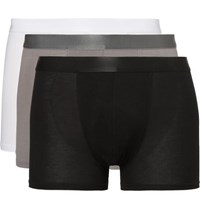 Cdlp Three Pack Stretch Jersey Boxer Briefs
