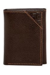Robert Graham Kent Leather Trifold Wallet Brown