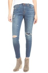 Madewell Women's Ripped And Patched Ankle Skinny Jeans