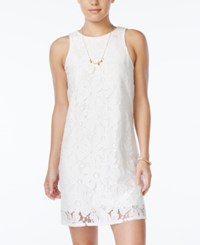 Speechless Juniors' Daisy Lace Sheath Dress White