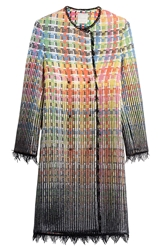 Marco De Vincenzo Cotton Coat With Metallic Thread