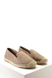Forever 21 Faux Suede Espadrille Slip Ons