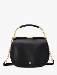 Ralph Lauren Enfield Mason 20 Leather Satchel Black