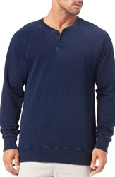 Men's Michael Stars Raglan Sleeve French Terry Henley
