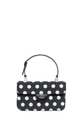 Rochas Mini Polka Dot Handbag Black