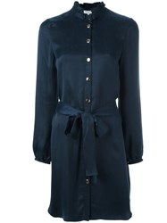 Opening Ceremony Belted Shirt Dress Blue