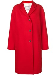 Mauro Grifoni Oversized Single Breasted Coat Red
