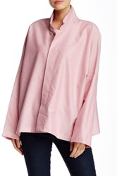 Planet Mandarin Collar Blouse Pink
