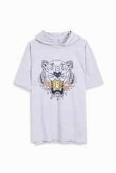 Kenzo Men S Hooded Tiger T Shirt Boutique1 Grey