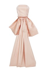 Christian Siriano Satin Bow Bustier Pink