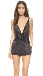 Blue Life Pool Party Romper Soft Black Mineral