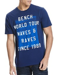 Bench Graphic Printed Cotton Tee Blue