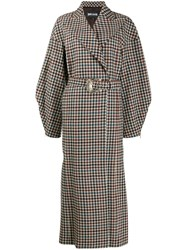 Just Cavalli Belted Checked Coat 60