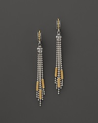 Lagos 18K Gold And Sterling Silver Micro Chain Dangle Earrings Silver Yellow Gold