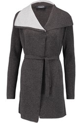 Magaschoni Draped Cashmere Cardigan Charcoal