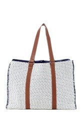 San Diego Hat Company Melanged Woven Paper Tote Blue