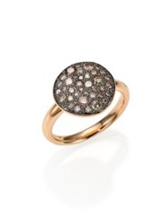 Pomellato Sabbia Brown Diamond And 18K Rose Gold Ring