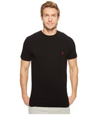Polo Ralph Lauren Short Sleeve Waffle Crew Black Men's Clothing
