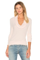 Bobi Modal Thermal Long Sleeve Cowl Neck Top Blush