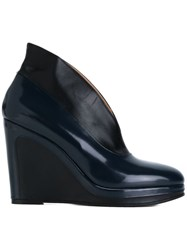 Maison Martin Margiela Wedge Ankle Boots Blue