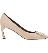 Roger Vivier Belle Vivier Patent Leather Courts Nude