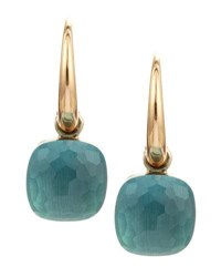 Pomellato Nudo Small 18K Blue Topaz Earrings