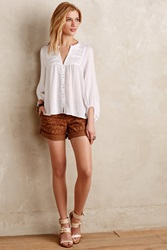 Pilcro Hyphen Embroidered Chino Shorts
