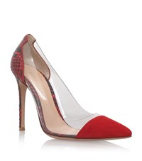 Gianvito Rossi Calabria Snakeskin Shoes Female Red