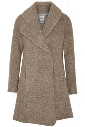 Opening Ceremony Morgane Asymmetric Brushed Felt Coat Nude