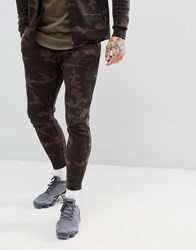 Sik Silk Siksilk Cropped Joggers In Camo Green