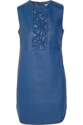 Richard Nicoll Origami Detailed Leather Mini Dress