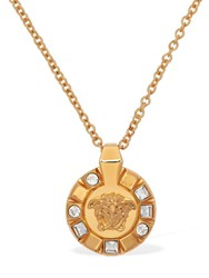 Versace Palazzo Medusa Necklace W Crystals Gold